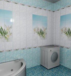 ванная и туалет пластиковыми панелями под ключ