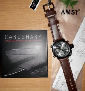 Часы AMST+подарок нож-кредитка
