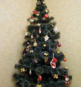 Пушистая новогодняя ёлка + подарок