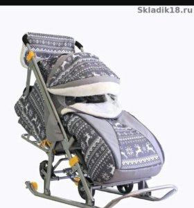 Санка-коляска
