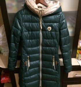 Зимнее пальто пуховик размер s