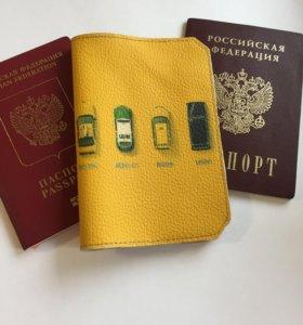 Обложка на паспорт из натуральной кожи handmade