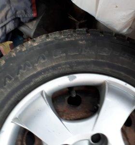 Продам зимние колеса в сборе Hyundai Accent