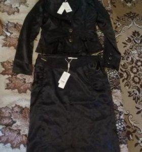 костюм с юбкой