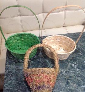 Корзиночки плетённые д/подарков, цветов и поделок