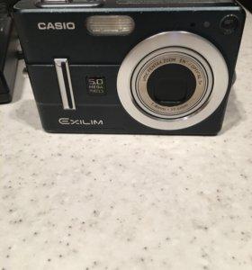 Фотоаппарат Casio EX-Z55 (б/у) + карты памяти
