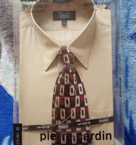 🛍 Мужская рубашка с галстуком Pierre Cardin р-р М