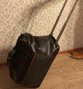 Сумка чемодан из натуральной кожи