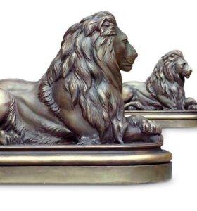 Сторожевые львы в сад или интерьер.