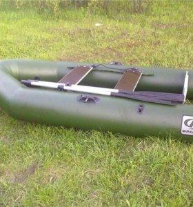 Лодка надувная пвх + складной пайол