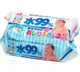Корейские влажные салфетки для новорожденных iPLUS