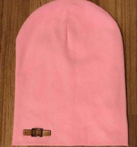 Новая нежно - розовая шапка