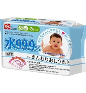 Корейские детские влажные салфетки iPLUS 80 шт.