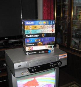 ВИДЕОМАГНИТОФОН-JVC HR-J485EE Hi-Fi SQPB+50шт. VHS