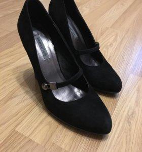 Туфли, натуральная замша