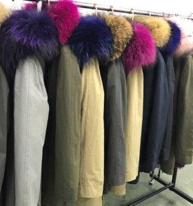 Куртка парка меховая
