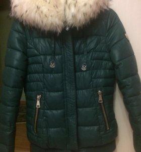 Куртка зимняя ( темно зелёная) Торг)))