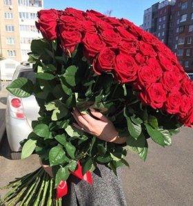 Цветы розы от 40 см