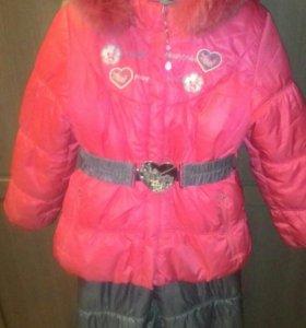 Зимний костюм для девочки.