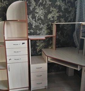 Компьютерный стол(угловой)+ 2 пенала