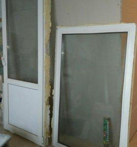 Окно и дверь балконная