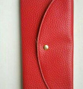 Кожаный женский кошелек бумажник