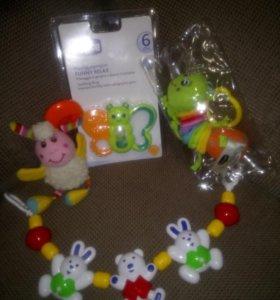 Игрушки для малышей (подвески, прорезыватель)