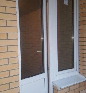 Новая балконная дверь с окном.