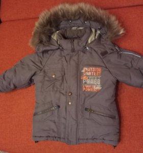 Куртка зимняя для мальчика рост 104см