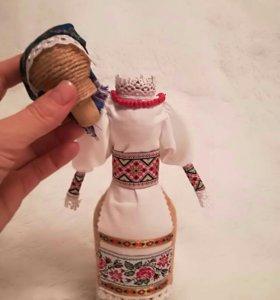 Кукла ручной работы бутылка