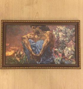 Репродукция картины «Демон» Врубеля.