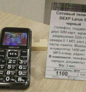 Сотовый телефон DEXP Larus S3 черный.