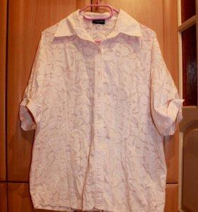 Летняя рубашка-блузка (52-54)