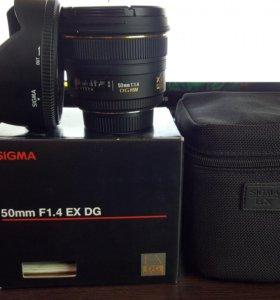 Объектив Sigma AF 50mm f/1.4 EX DG для Nikon