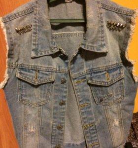 Жилетка джинсовая, XS-S