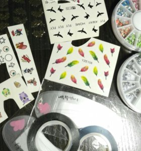 Украшения на ногти трафареты брови стразы наклейки