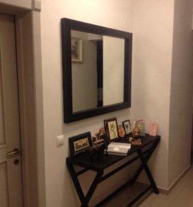 Зеркало настенное в дер. дубовой рамке