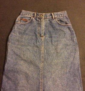 Джинсовая юбка 46 размер