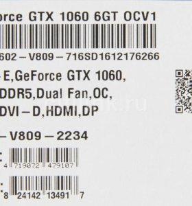 Видеокарта MSI GeForce GTX 1060 6GT OCV1, 6Гб,