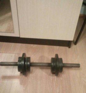 Штанга вес 37 кг