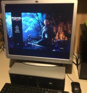Игровой компьютер с монитором, игры на максимуме