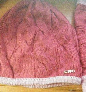 Продам комплект шапку и шарф на девочку.