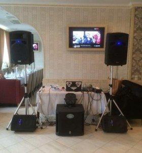 Комплект звукового оборудования dj диджей аренда