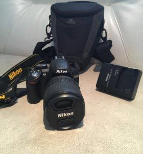 Фотоаппарат Nikon D3100 + чехол