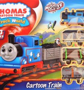 Железная дорога + паровозик Томас на батарейках