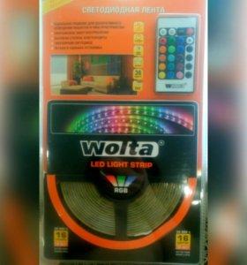 Комплект цветной светодиодной ленты в силиконе