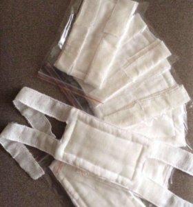 Ватно-марлевая повязка/маски для ОБЖ в школу и сад