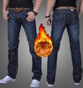 Мужские джинсы зима