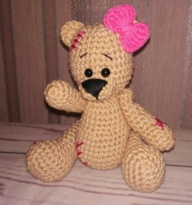 Мишка Тедди вязаные игрушки
