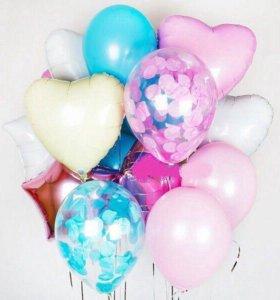 Воздушные шары, украшение шарами